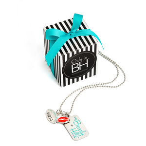 Beverly Hills Bauble ID tag necklace