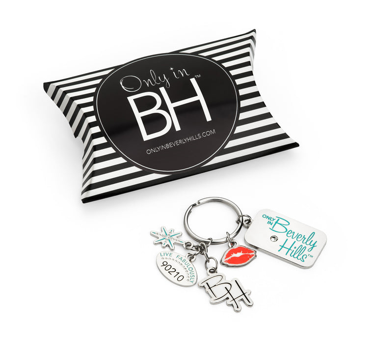 Beverly Hills 90210 Key Ring with charms