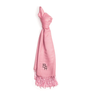 Pink pashmina with embroidered BH