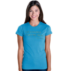 Sassy Beverly Hills fitted women's tee shirt gold