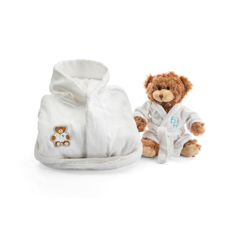 Boys Beverly Hills robe and teddy bear