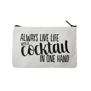 "Beverly Hills 90210 zipper pouch ""Cocktail"""