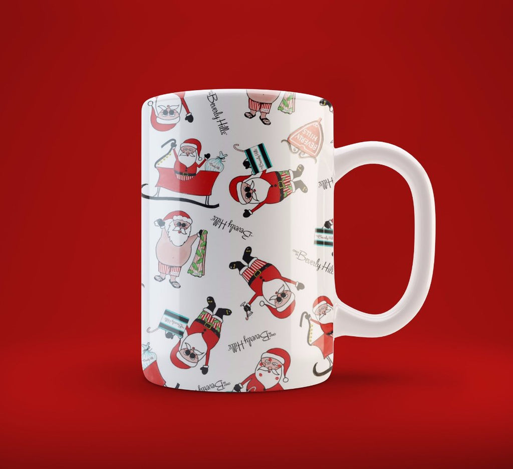 Watercolor Santa Mug