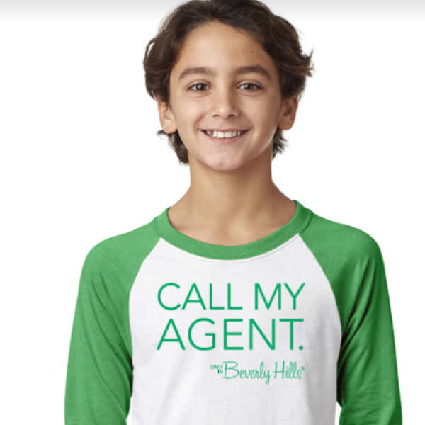 Green Call My Agent Kids T-Shirt