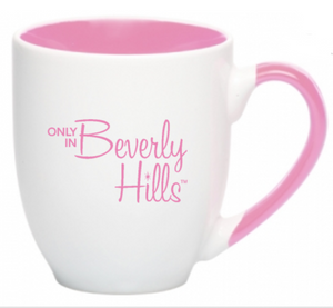Pink Beverly Hills coffee mug