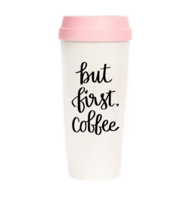 But first, coffee travel cup