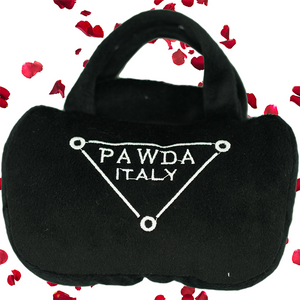 "Rachel ""Pawda"" dog toy purse"