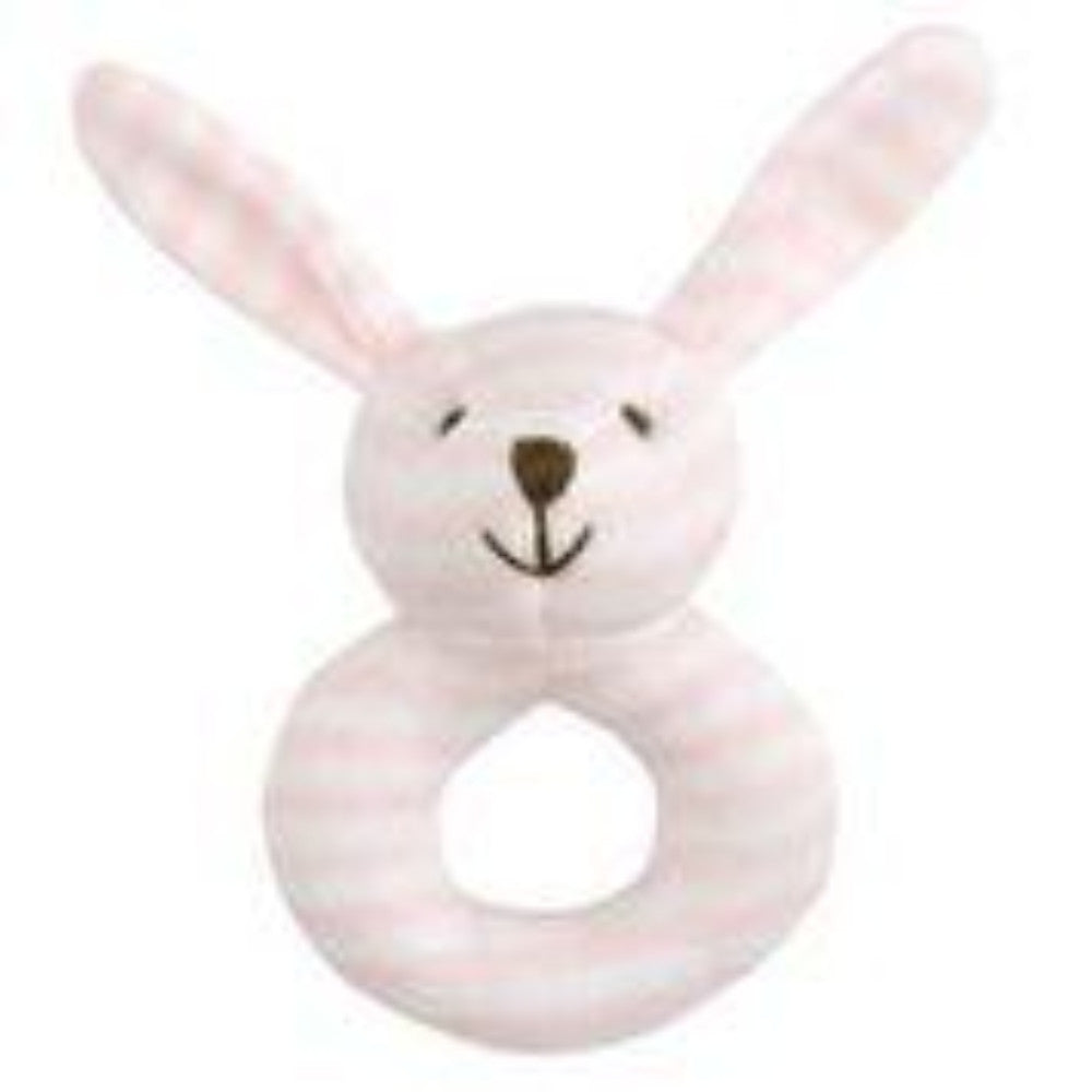 soft striped baby rattle
