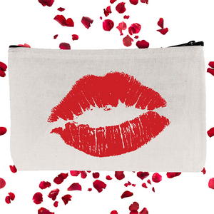 Bachelorette Zip pouch with red lips