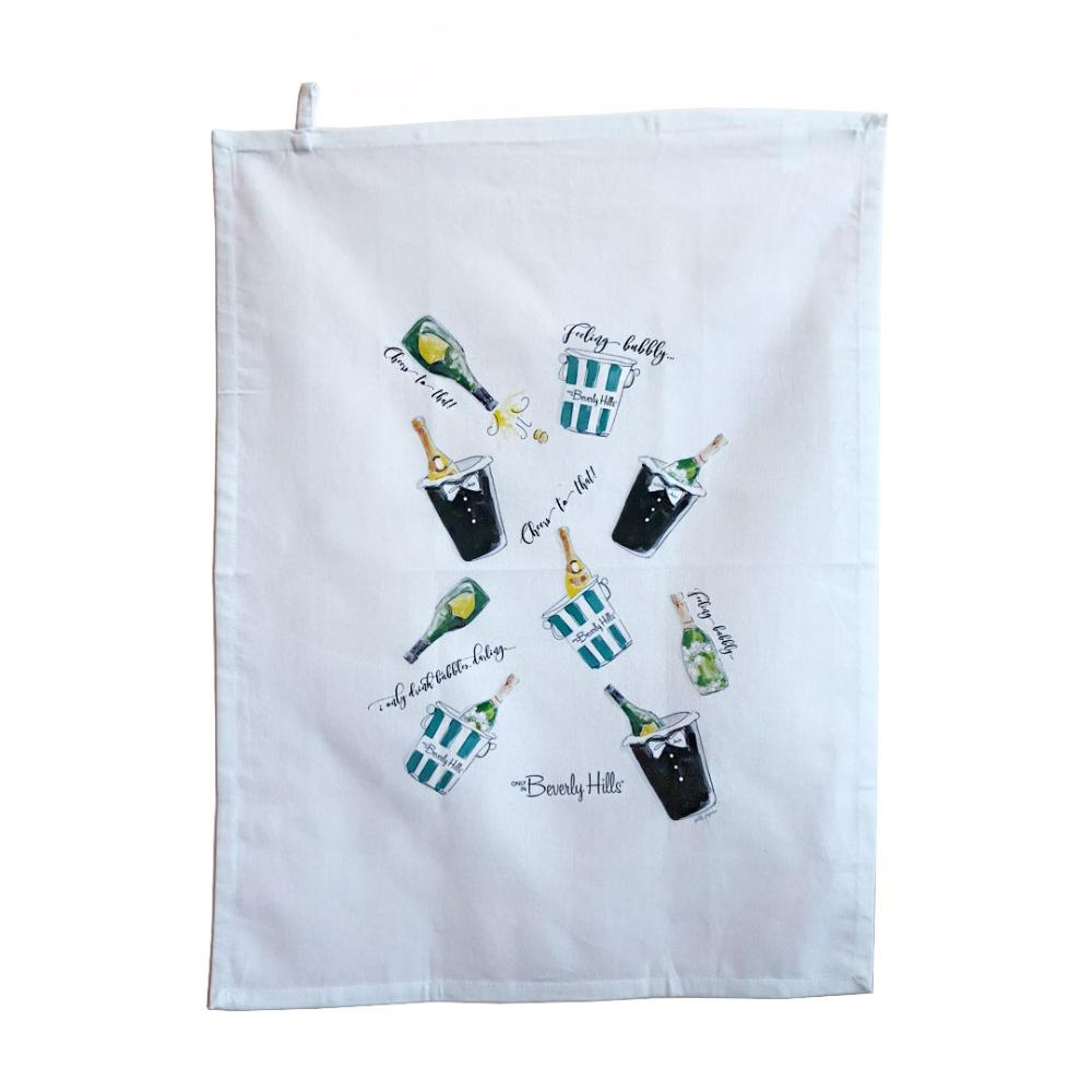 Watercolor Tea Towel Beverly Hills Bubbly
