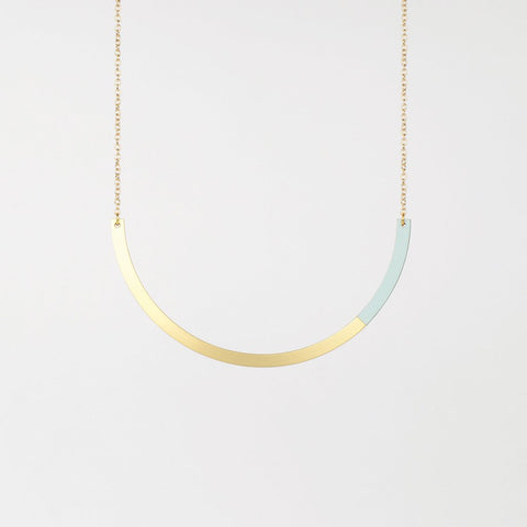 Form Circle Necklace Brass/Ice