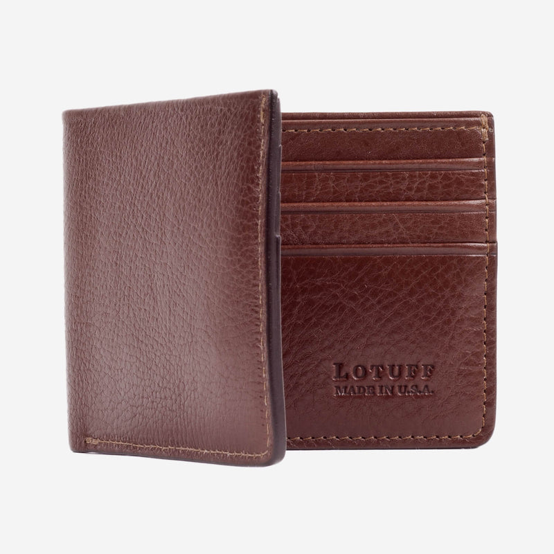 Lotuff Bifold Wallet Chestnut Interior Note Compartment