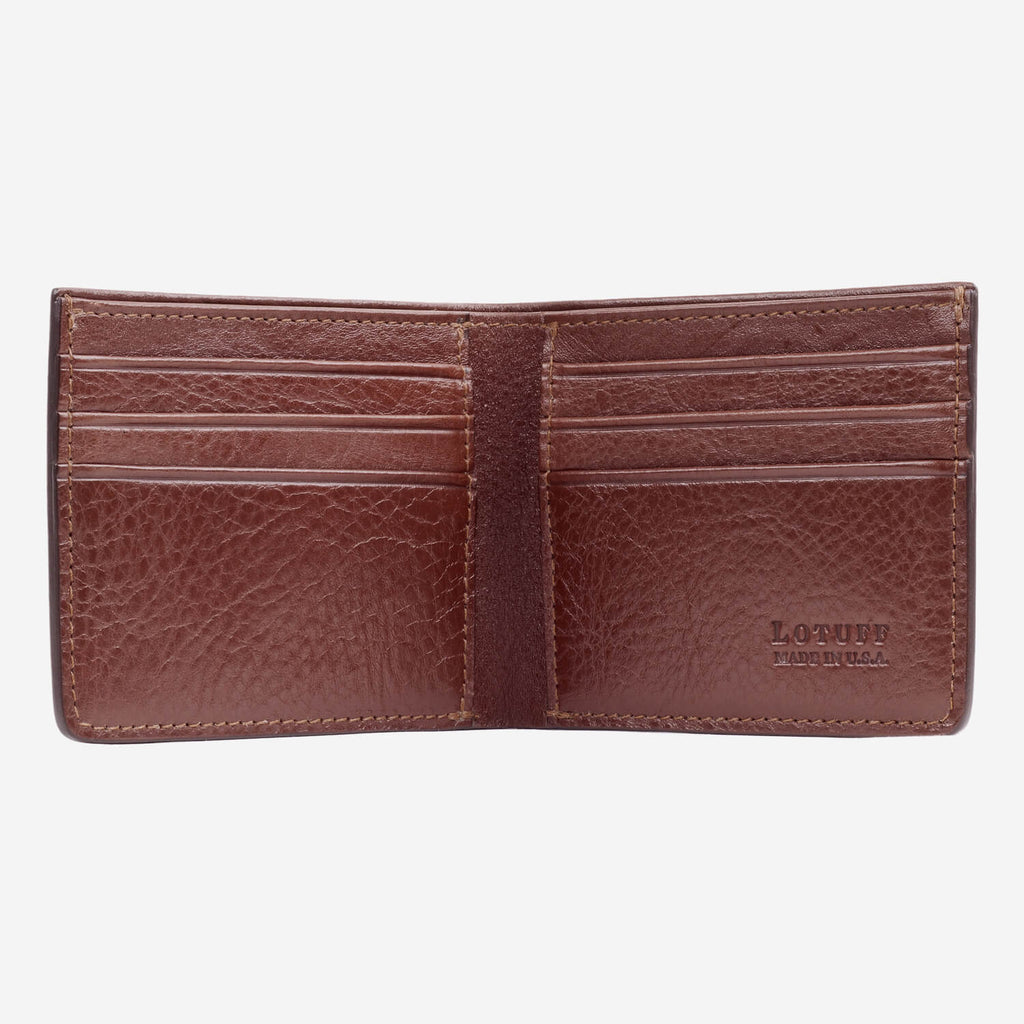 Lotuff Bifold Wallet Chestnut Interior