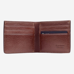 Lotuff Bifold Wallet Chestnut Interior with Card
