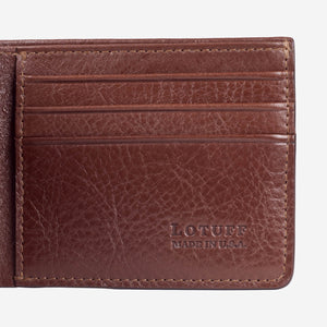 Lotuff Bifold Wallet Chestnut Interior Card Slots