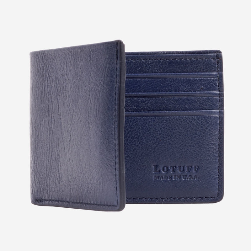 Lotuff Bifold Wallet Indigo Interior with Card