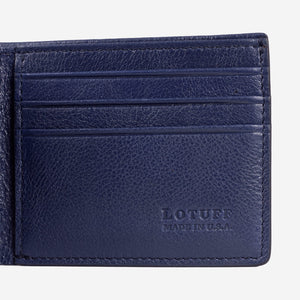 Lotuff Bifold Wallet Indigo Interior Card Slots