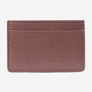 Lotuff Credit Card Wallet Clay Front