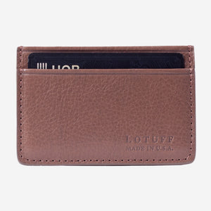 Lotuff Credit Card Wallet Clay Front with Card