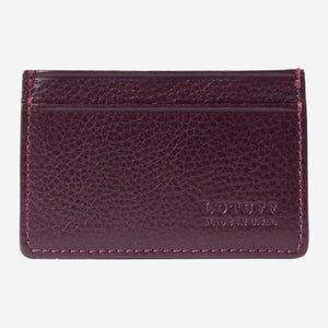 Lotuff Credit Card Wallet Cordovan Front