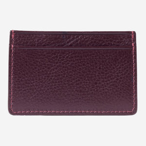 Lotuff Credit Card Wallet Cordovan Back