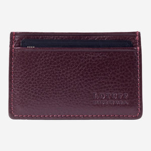 Lotuff Credit Card Wallet Cordovan Front with Card