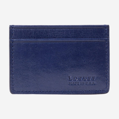 Lotuff Credit Card Wallet Indigo Front