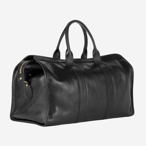 Lotuff Duffle Travel Bag with Pocket Black Slanted Front