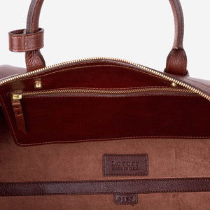 No. 12 Leather Weekender Chestnut
