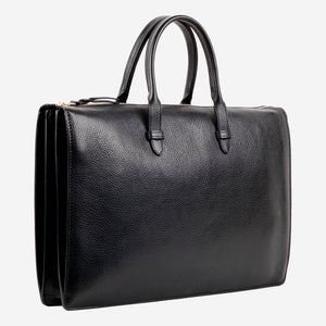 Triumph Briefcase Black Slanted