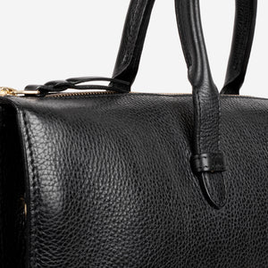 Triumph Briefcase Black Slanted Closeup