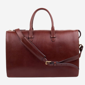 Triumph Briefcase Chestnut Front with Strap