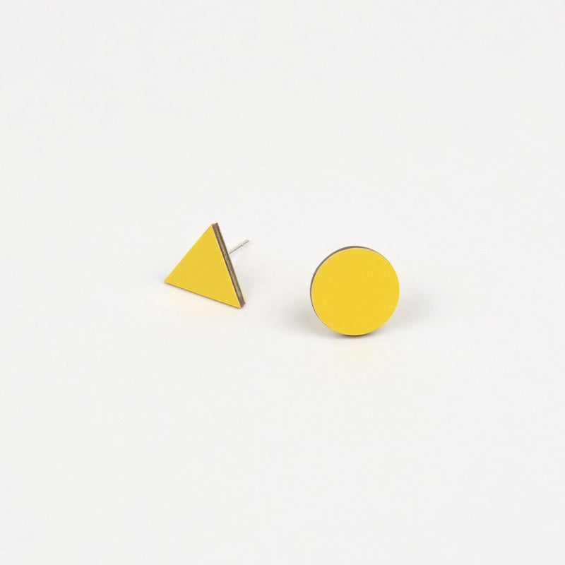 Mix Match Earrings Yellow