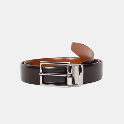 Anderson's Reversible Leather Belt Dark Brown Front