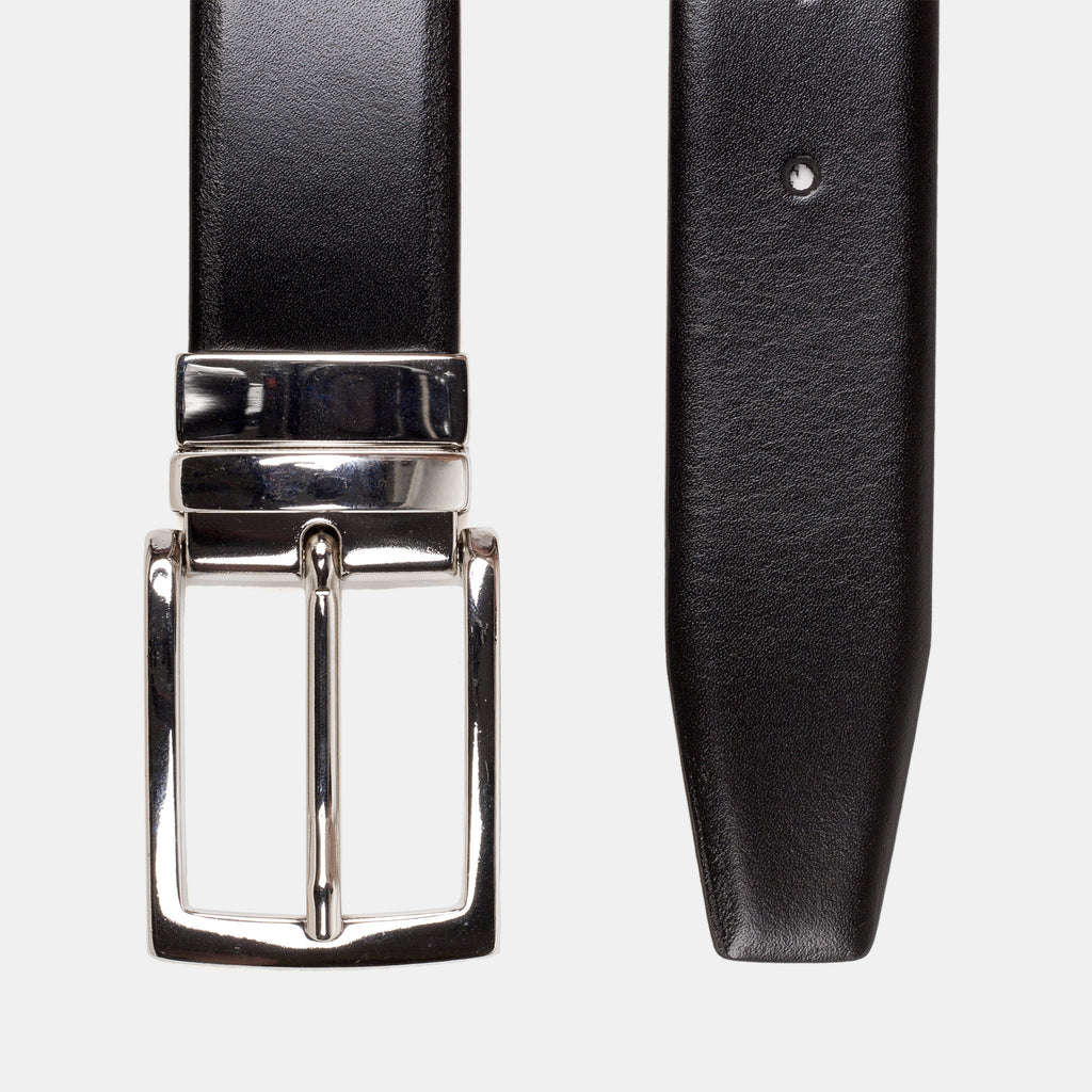 Anderson's Reversible Leather Belt Black Top Down
