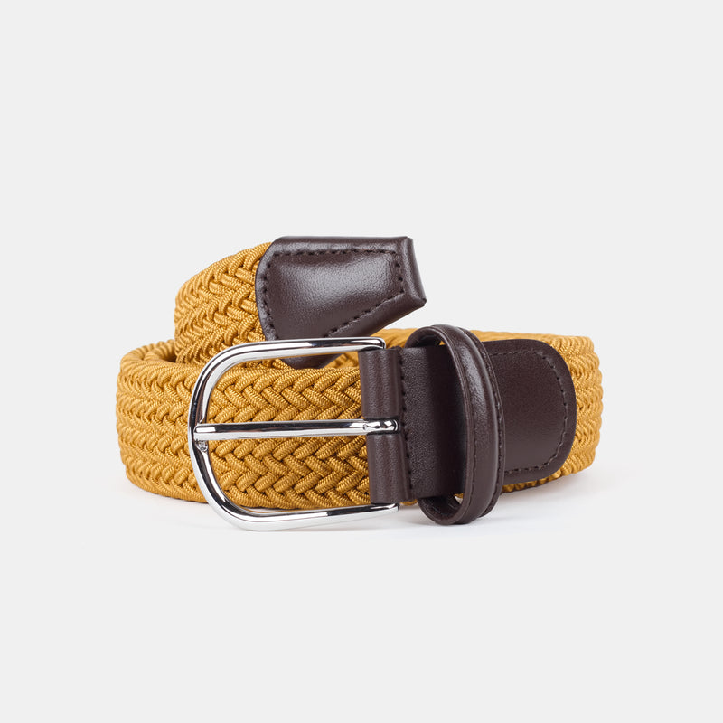 Anderson's Woven Nylon Belt Mustard Top Down