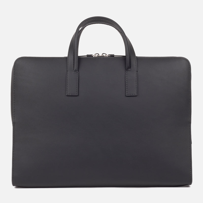 Bonastre Briefcase Black Top Down