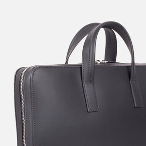 Bonastre Briefcase Black Slanted Closeup