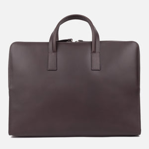 Bonastre Briefcase Choc Brown Front
