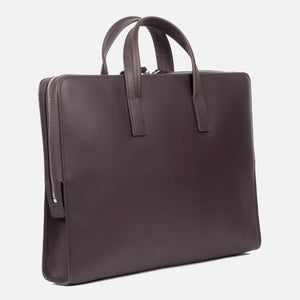 Bonastre Briefcase Choc Brown Slanted