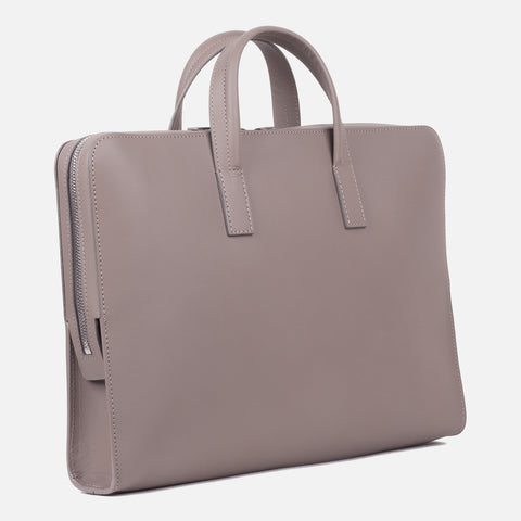 Bonastre Briefcase Grey Slanted