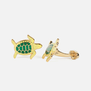 Codis Maya Turtle Enamel Lemon/Emerald with Gold Plating Side