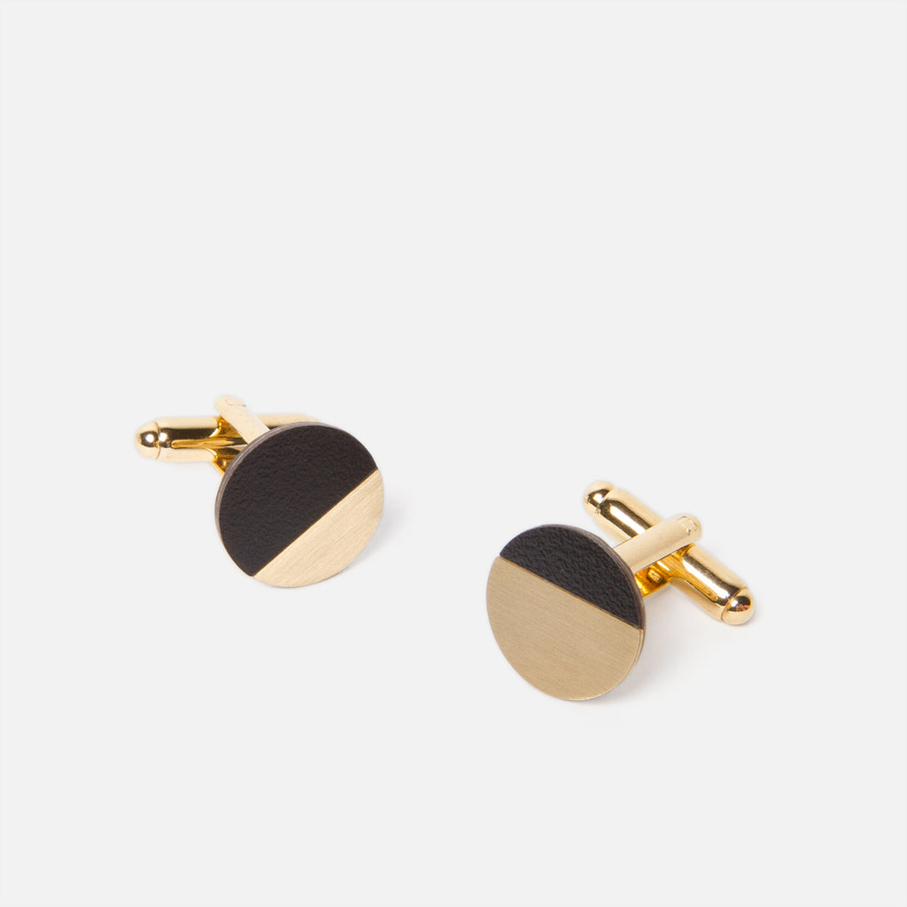Tom Pigeon Form Circle Brass/Black Top