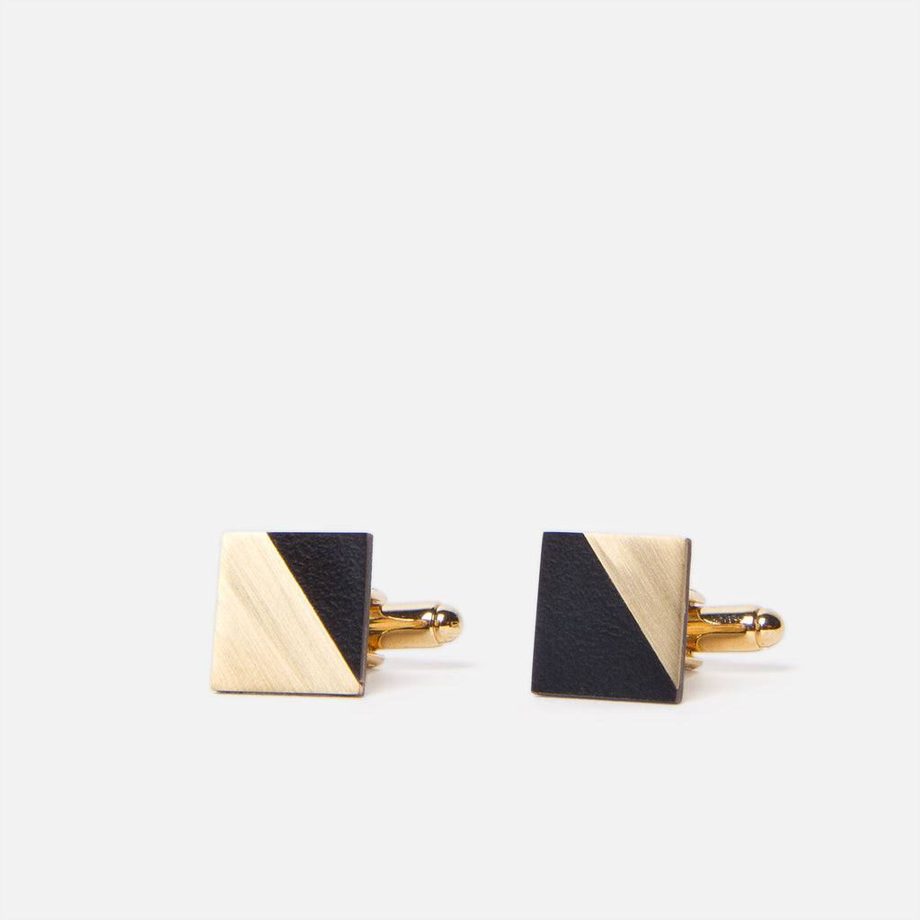 Tom Pigeon Form Square Brass/Black Front