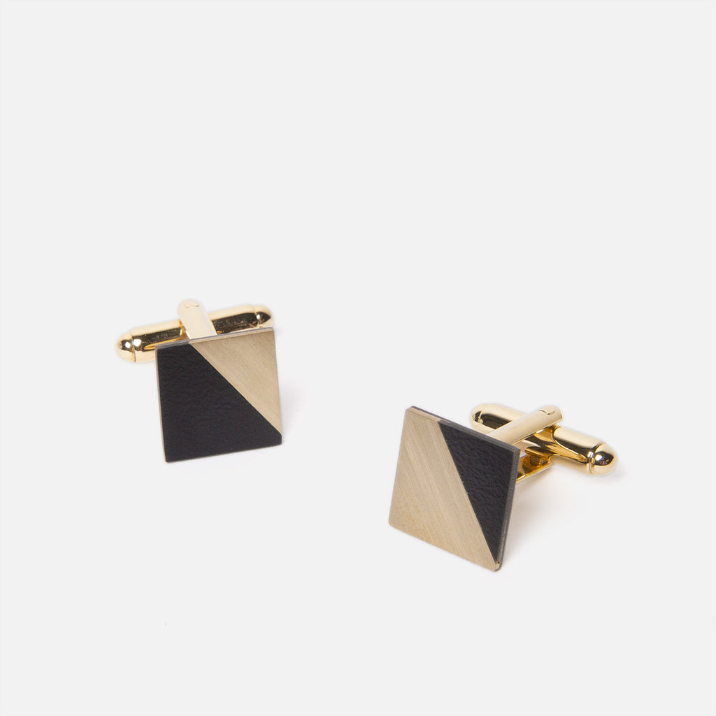 Tom Pigeon Form Square Brass/Black Top