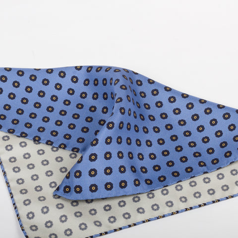 Fumagalli Pocket Square Dolce Blue Reverse