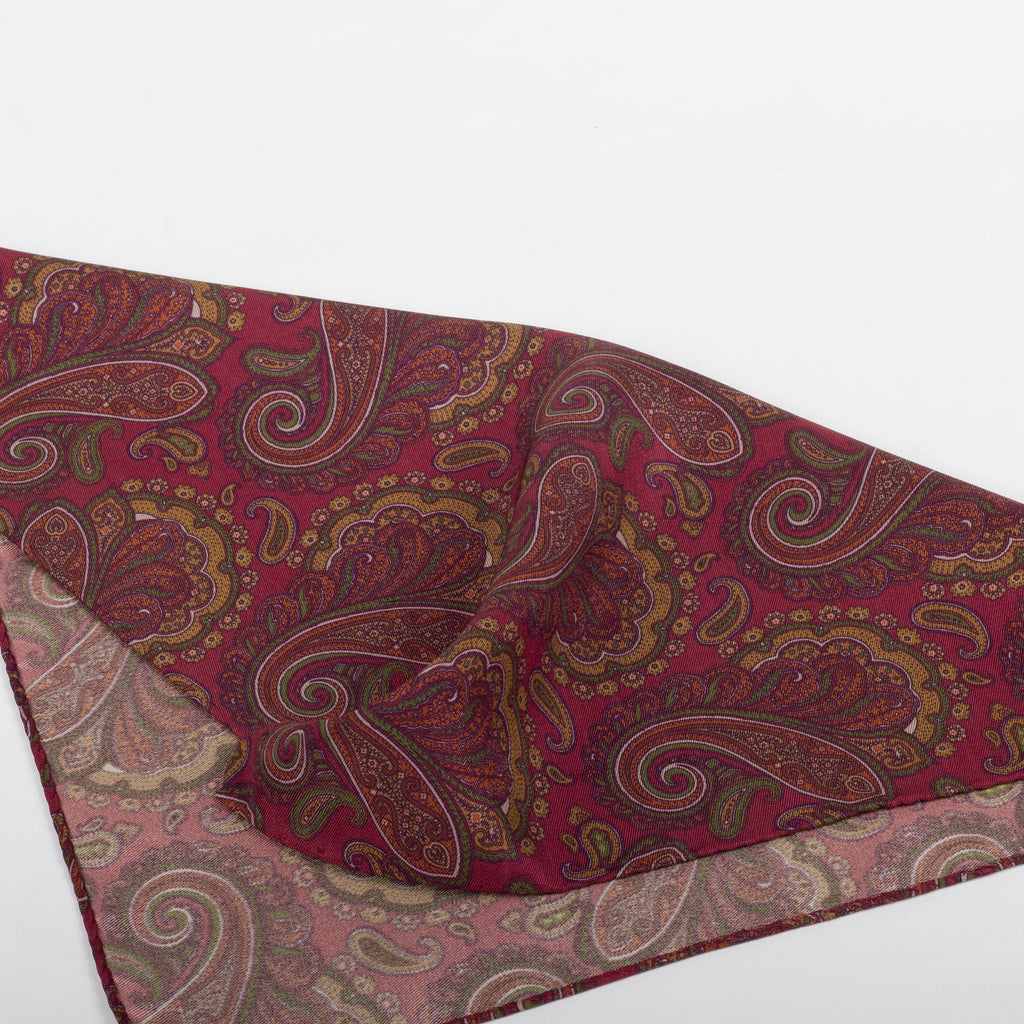 Fumagalli Pocket Square Filippi Red Reverse