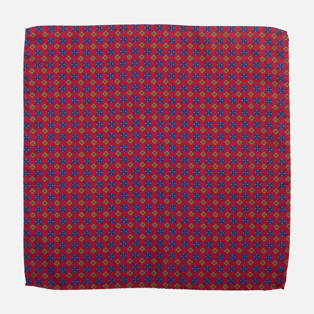 Fumagalli Pocket Square Genaro Red Front