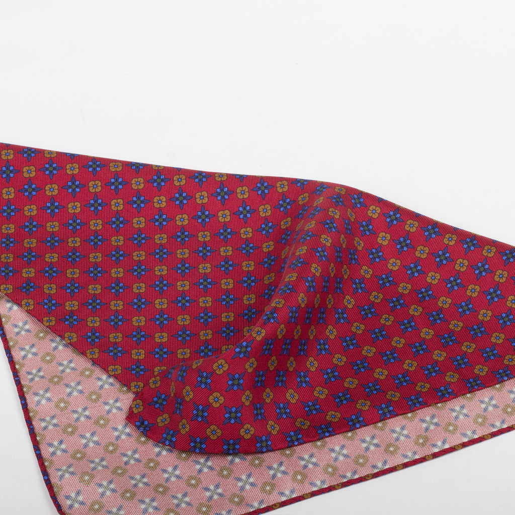 Fumagalli Pocket Square Genaro Red Reverse