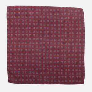 Fumagalli Pocket Square Lusso Red Front